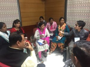 Participants discussing during the workshop